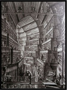 Erik Desmazieres. Borges The Library of Babel: Upper Circular Gallery (1998)